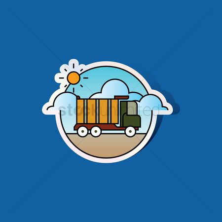 Machineries : Dump truck icon