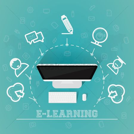 Electronic : E-learning concept