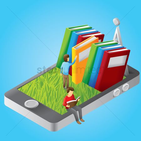 Readings : E-library on smartphone