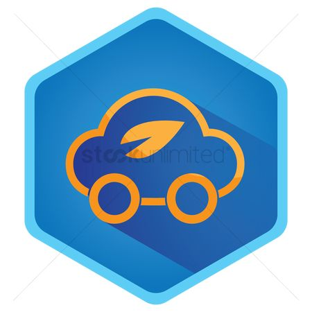 Electric cars : Eco friendly car icon