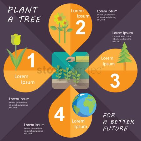 Save trees : Ecology concept infographic