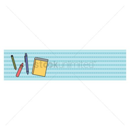 Crayons : Education banner