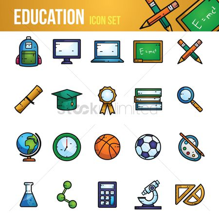 Blackboard : Education icon set