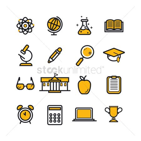 Electronic : Education icons set