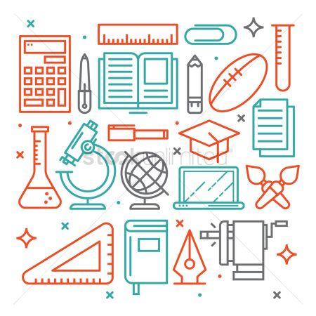 Notebooks : Education icons set