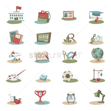 Brushes : Educational icon set