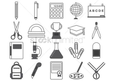 Cutters : Educational icons collections