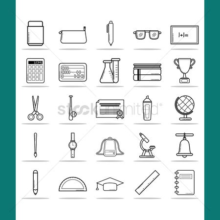 Stationary : Educational icons