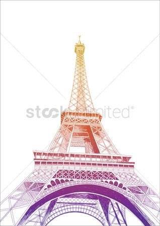 Tourist attraction : Eiffel tower poster