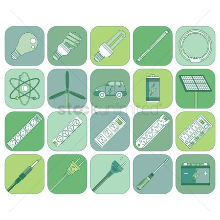 Jack : Electrical and energy appliance icon set
