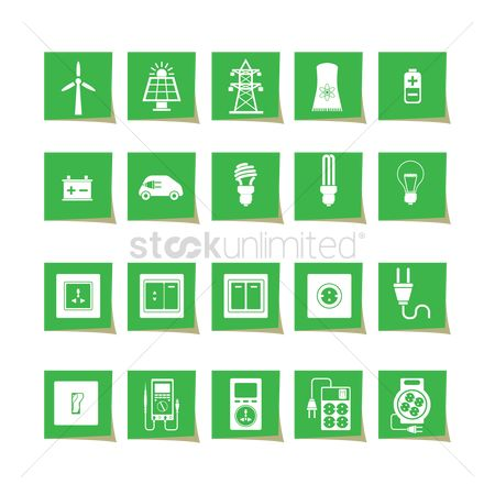 Appliance : Electrical power and appliance icon set