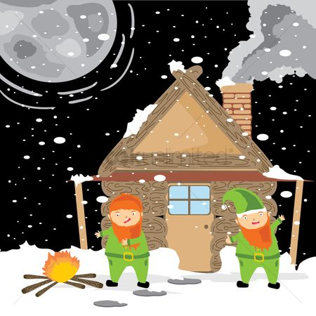 Cottage : Elves outside cottage