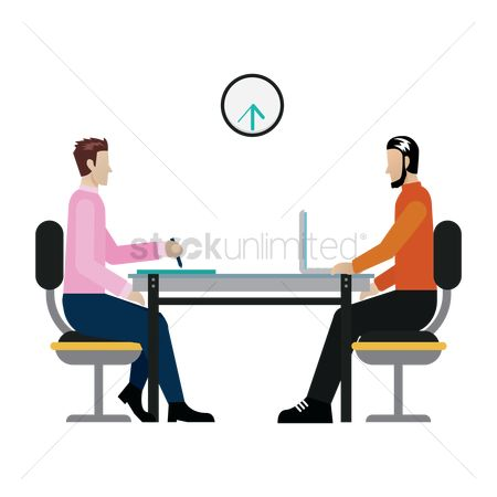 Workers : Employee in a meeting with employer