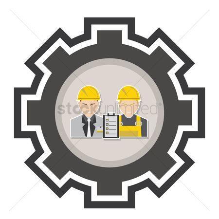 Builder : Engineer and construction worker