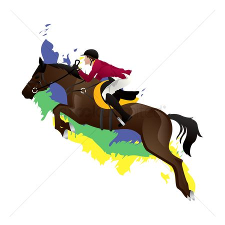 Athletes : Equestrian jumping rider