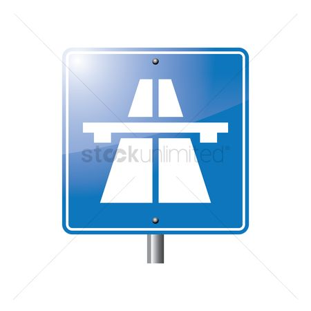Attention : Express way start sign