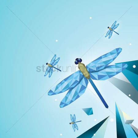 Gradients : Faceted dragonflies