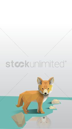Wallpaper : Faceted fox