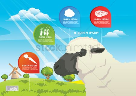 Agriculture : Farm and agriculture infographic