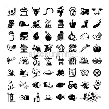 Agriculture : Farming icons set