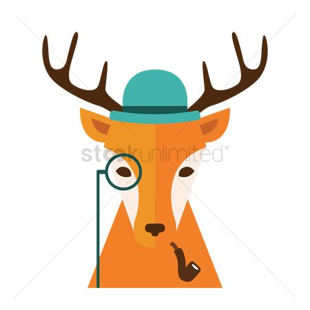 Smoking pipe : Fashionable deer