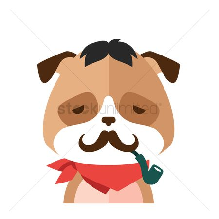 Smoking pipe : Fashionable dog