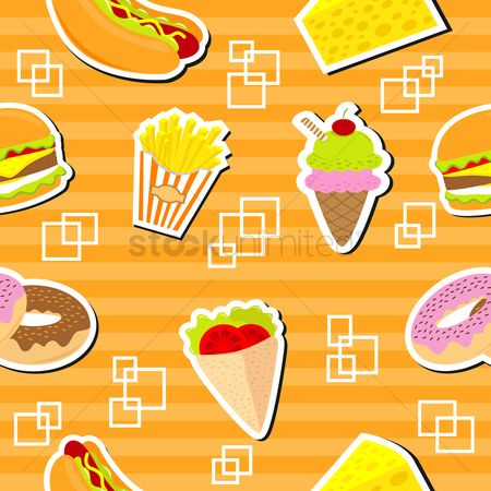 French : Fast food background