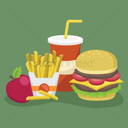 Unhealthy eating : Fast food set
