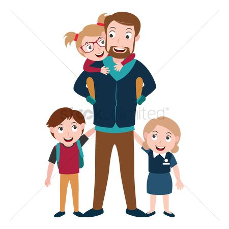 Boys : Father and kids