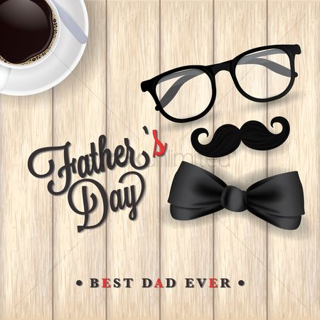 Coffee cups : Father s day design