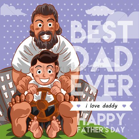 Greetings : Father s day poster