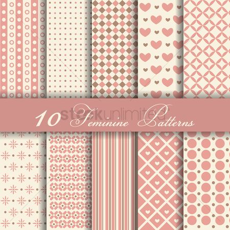 Wallpapers : Feminine patterns
