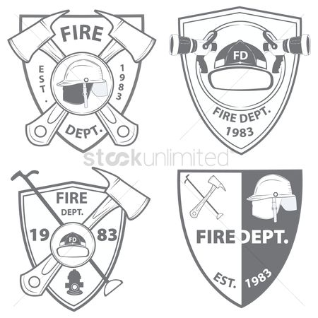Vintage : Fire department emblems and badges