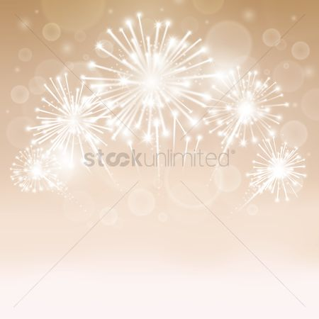 Sparkle : Fireworks background design
