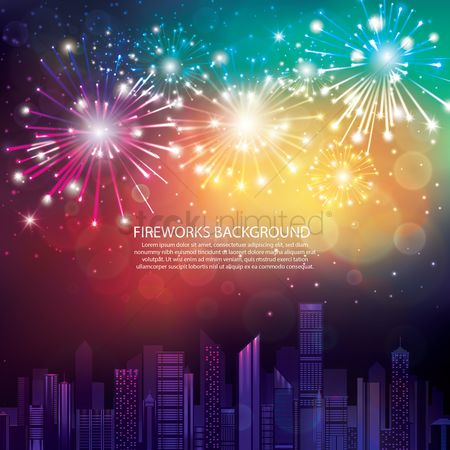 Backdrops : Fireworks background