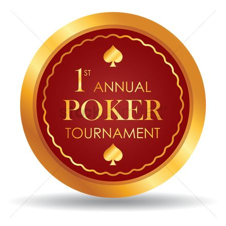 Poker chips : First annual poker tournament chip