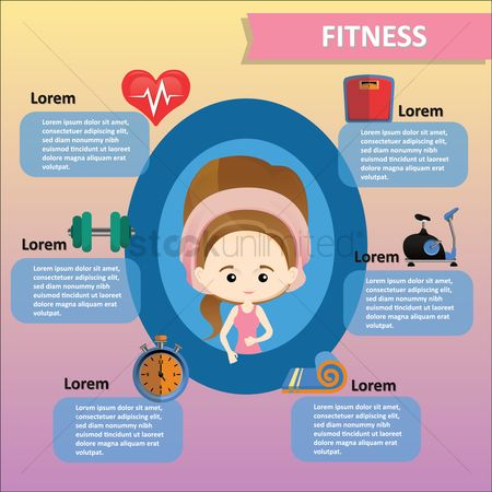 Dumb bell : Fitness infographic