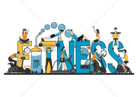 Lifestyle : Fitness lettering design