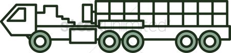 Icons : Flatbed truck icon