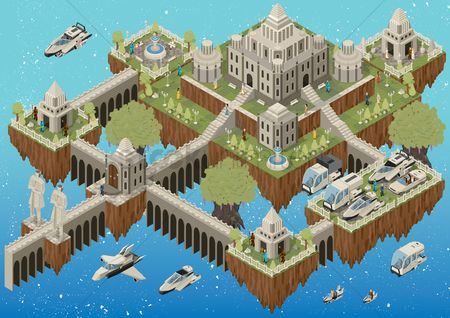 Buildings : Floating island