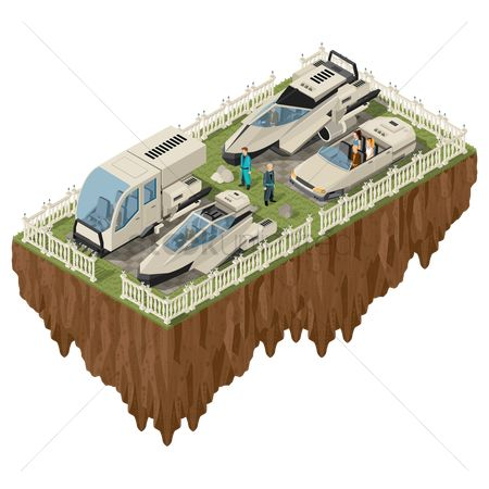 Lorries : Floating island