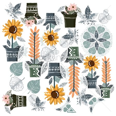 Graphic : Floral background design
