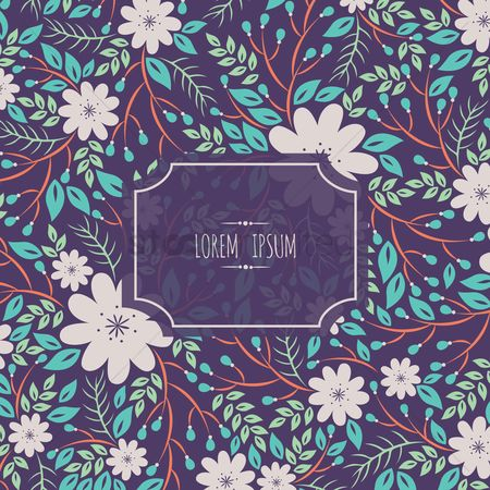 Copy space : Floral background