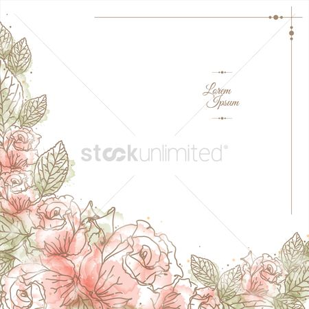 Vectors : Floral background