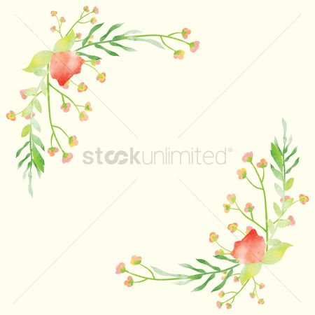 Budding : Floral design with copy space design