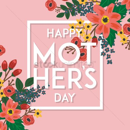 Mothers day : Floral happy mothers day wishes