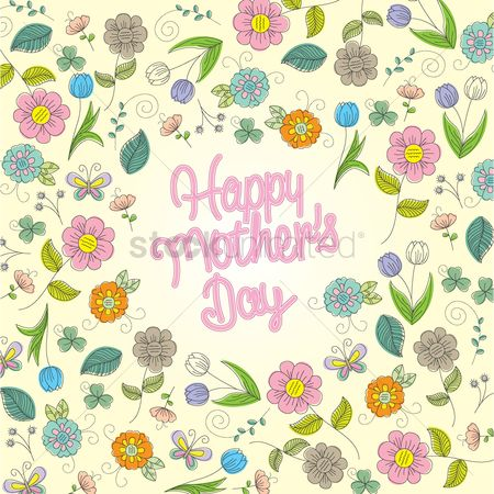 Thankful : Floral happy mothers day wishes