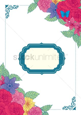 Weddings : Floral invitation design