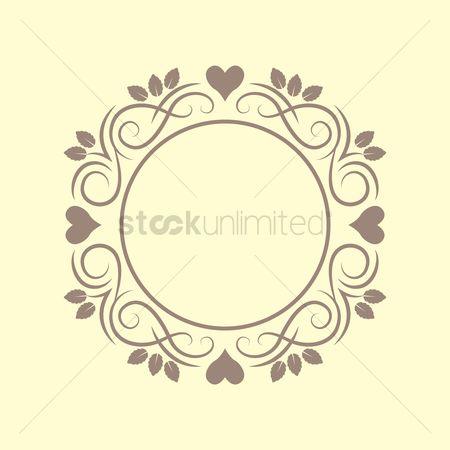 Copyspace : Floral victorian frame