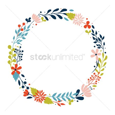 Flower : Floral wreath